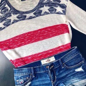 American Flag Light Sweater